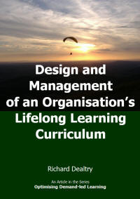 design and management of an organizations lifelong learning curriculum
