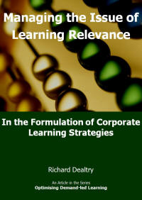 Managing the issue of learning relevance