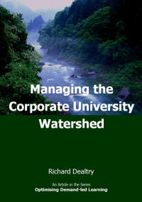 managing the corporate university watershed